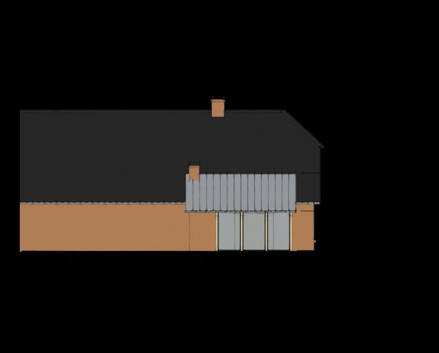 Ontwerp moderne aanbouw boerderij